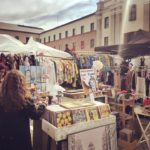 People shopping for vintage and antique products at Lost & Found market